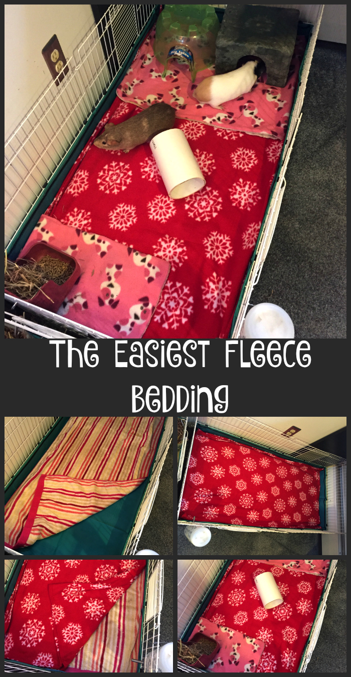 Tips and Tricks for making Fleece Bedding Easy and Quick for Guinea Pig Cages