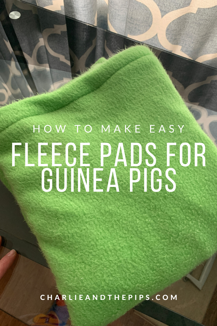 I know I've mentioned before that I'd show you the best way to make easy fleece pads for Guinea Pigs. Today I'm showing you how to make simple Guinea Pig fleece pads for any size cage or habitat!